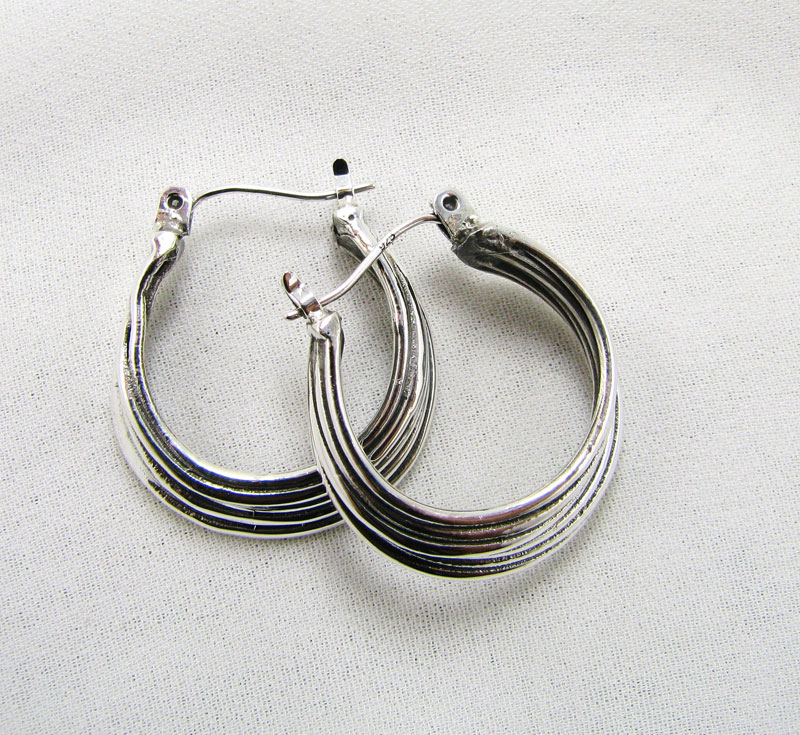 Large Fused Hoop Earrings
