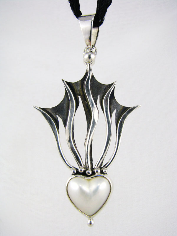 Radiating Heart Pendant